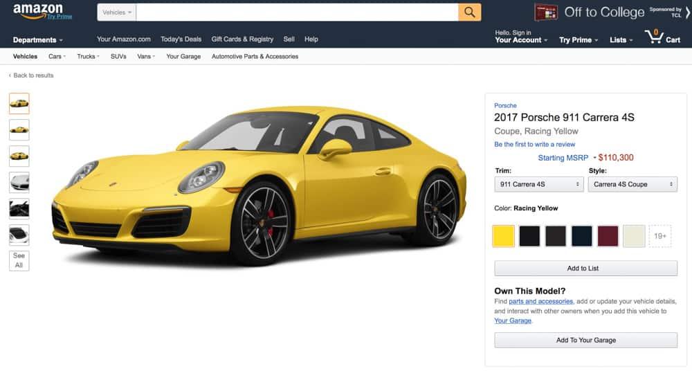 Amazon quiere ir más allá: Te asesora para comprar tu coche ideal y próximamente ¡Te lo venderá!