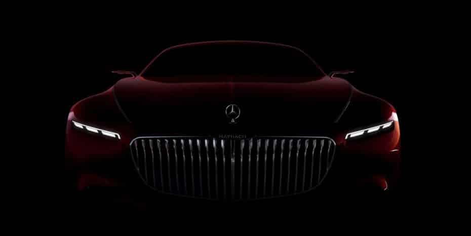 Mercedes-Maybach nos muestra el frontal de su concept: Un coupé de casi 6 metros que querrías tener en tu garaje…