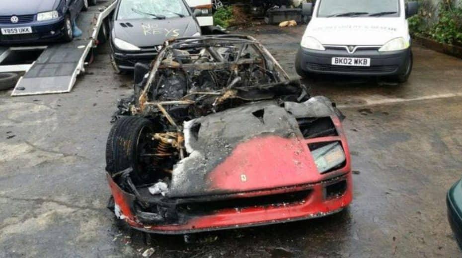 La restauración de este Ferrari F40 no ha acabado muy bien en su primer viaje…