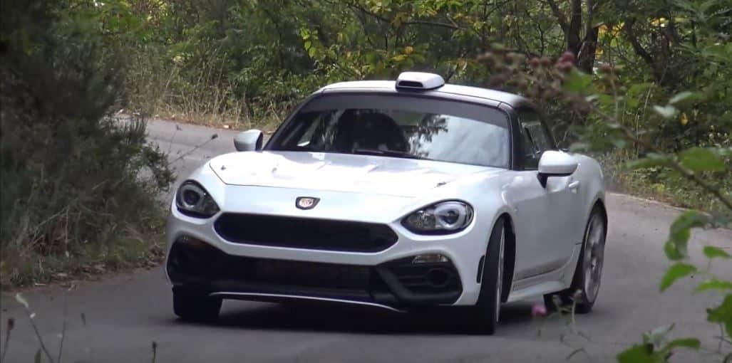 ¡El Abarth 124 de Rally cazado en vídeo!: Rugidos y sobrevirajes por doquier en San Remo