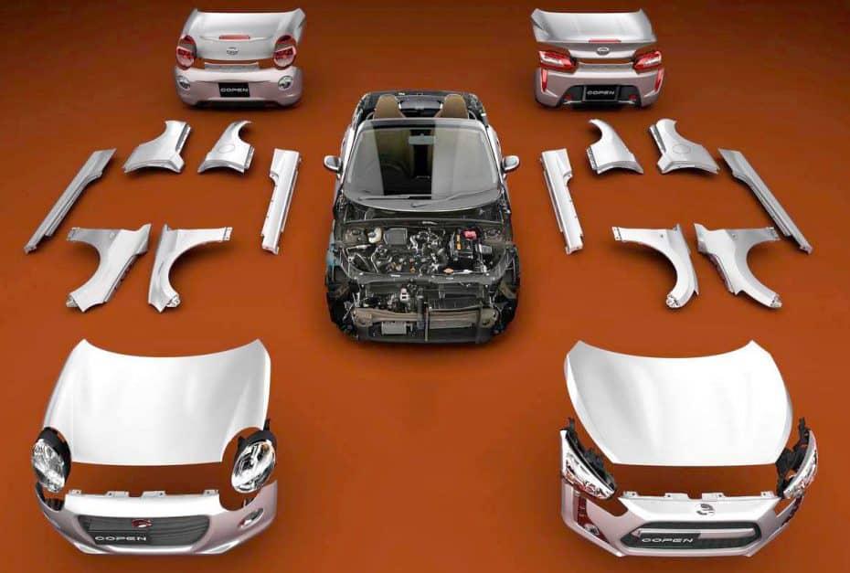 ¡Esto parece un LEGO! El Daihatsu Copen, un coche con piezas intercambiables para la carrocería