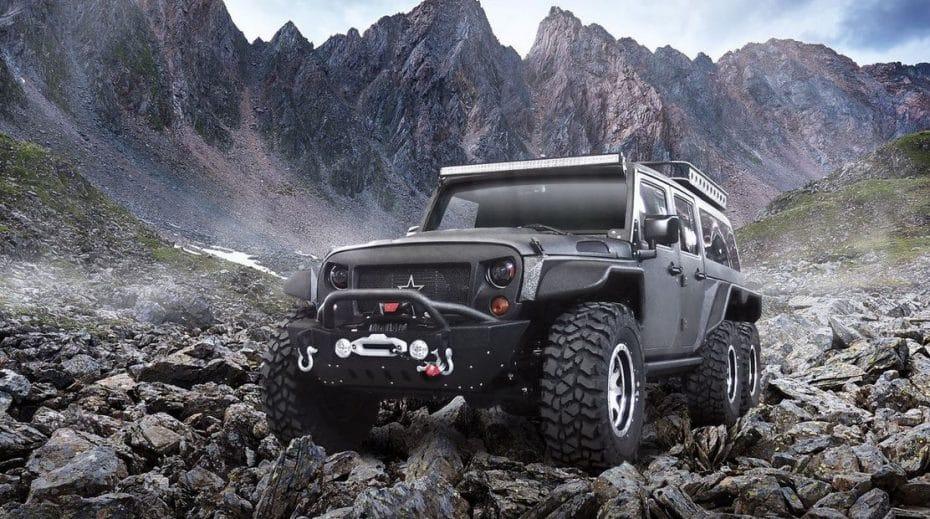 Es chino y mezcla un Jeep Wrangler con el concepto del 6×6 de Mercedes…