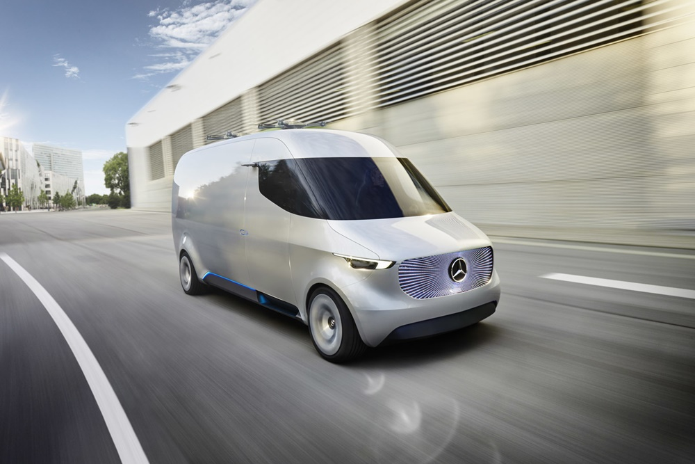 Mercedes-Benz Vision Van: El futuro de los comerciales incluye drones, automatización y cero emisiones