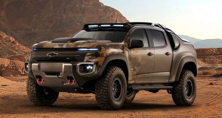 Chevrolet Colorado ZH2: El monstruoso 4×4 del ejército americano que funciona con hidrógeno