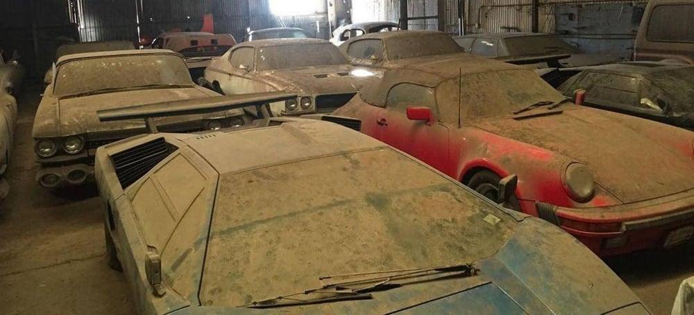 Con varios Countach y un Porsche 911 Speedster ¿Es esta la mejor colección abandonada del año?