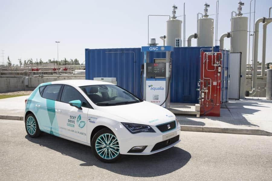 Fabricar Gas Natural Comprimido 100% español a partir de aguas residuales: La apuesta de Seat y Aqualia