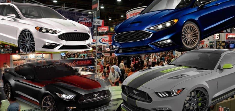Un año más, Ford quiere arrasar en el SEMA Show: ¡Ojo a estos Mustang y Fusion tuneados!