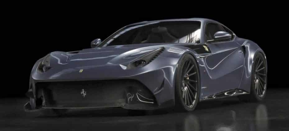 ¿Un extraño Ferrari F12 fabricado en fibra de carbono? Existe y tiene acento español
