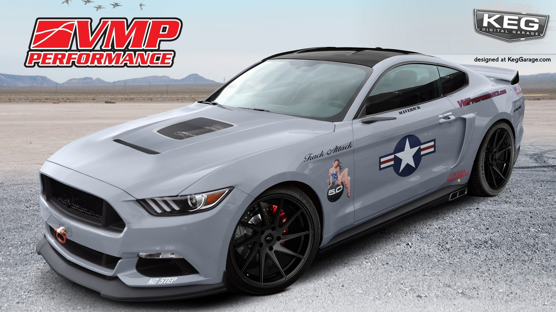 SEMA 2016 - 2017 Ford Mustang Fastback Track Attack by VMP Perfo