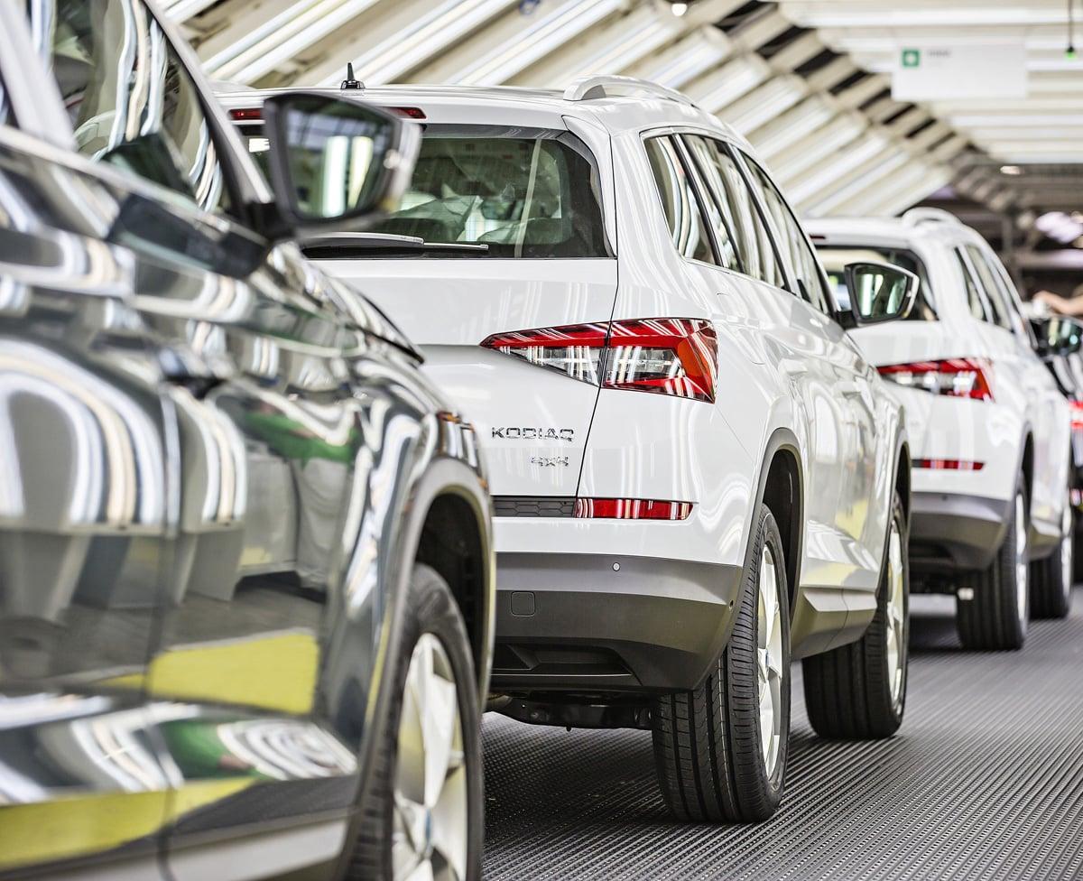 Výroba vozu Škoda Kodiaq