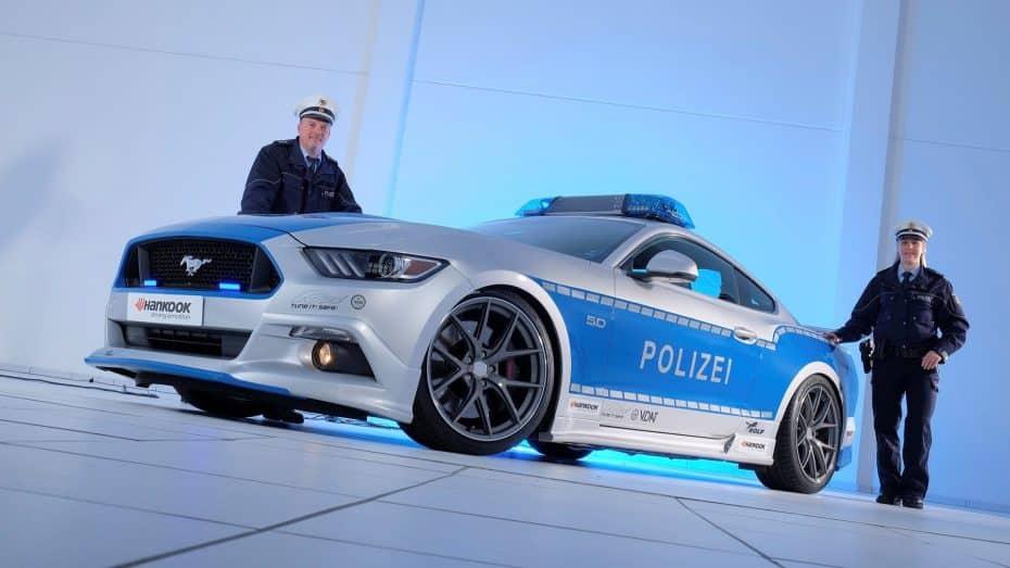 Este salvaje Ford Mustang de 461 CV se une a la flota de policía alemana ¡Pero no podrá perseguirte!