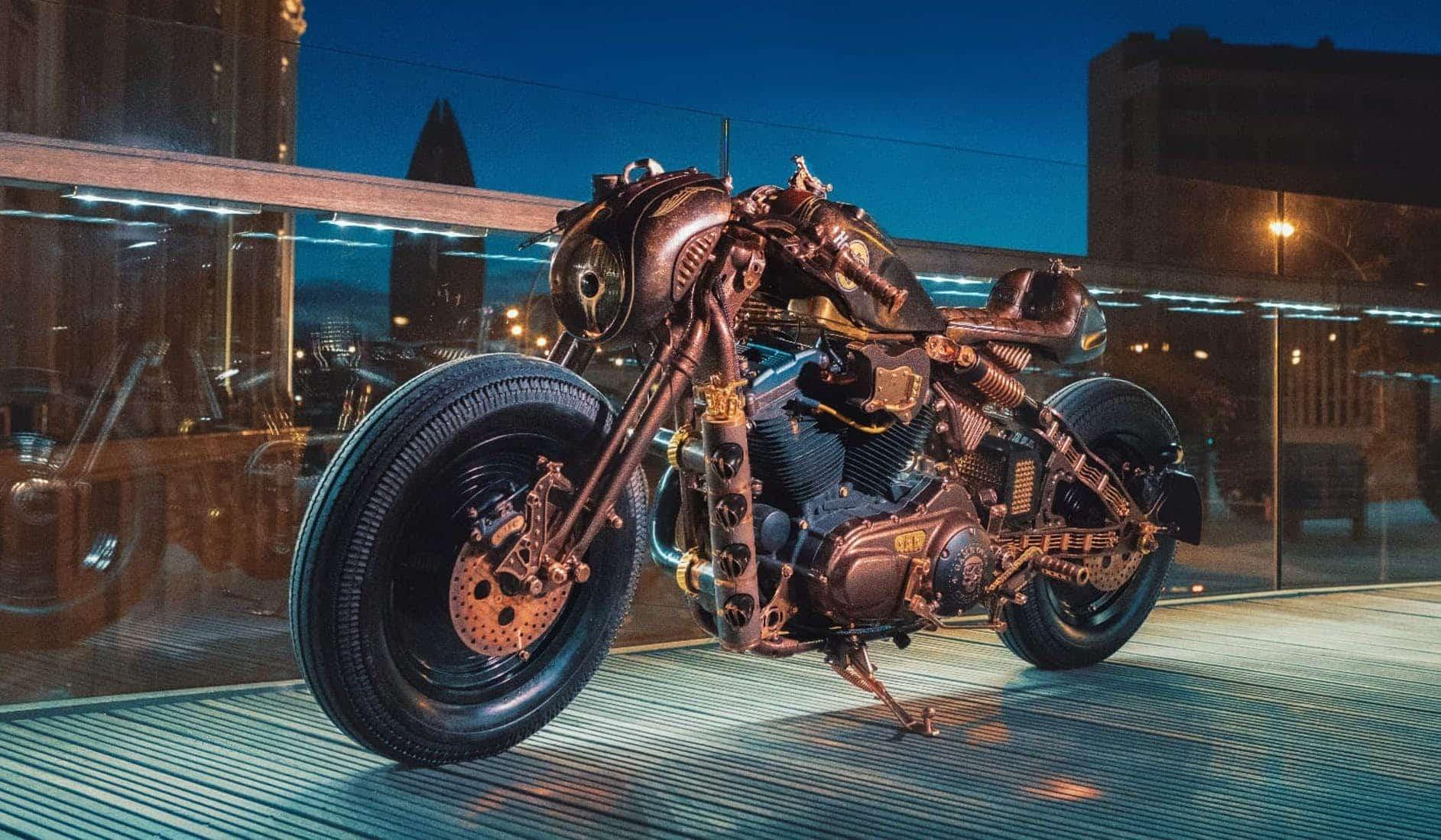 Esta Harley-Davidson es un monstruo único en el mundo y está construida como pleno tributo al Rock 'n' Roll