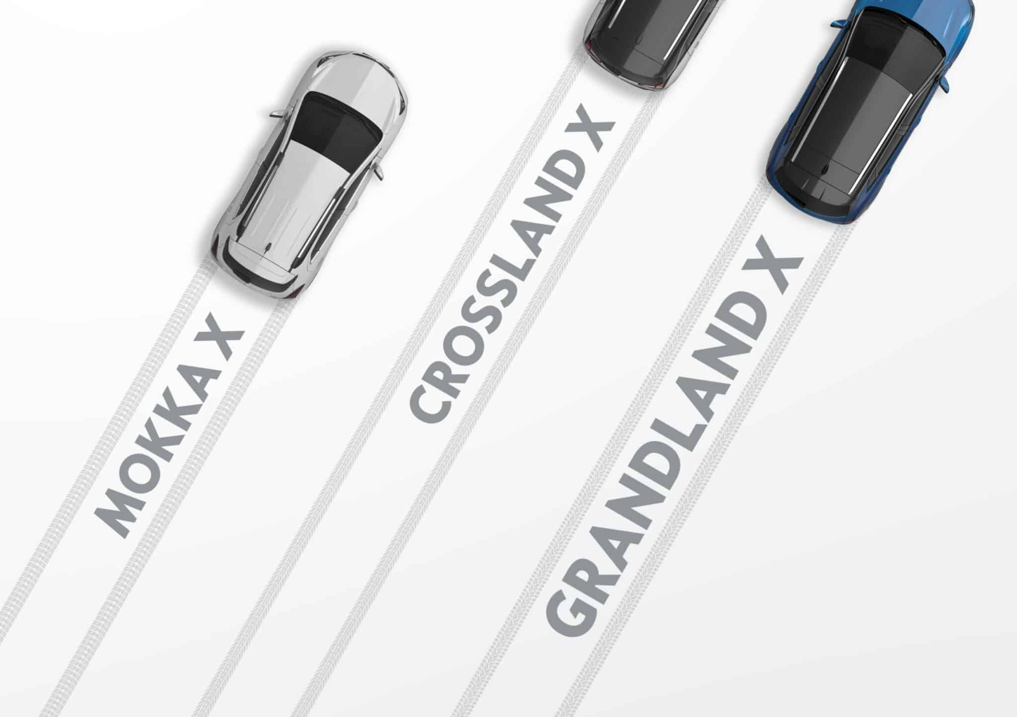 Rugged and elegant meets comfort and practicality: The Grandland X joins MOKKA X and Crossland X in the Opel X family.