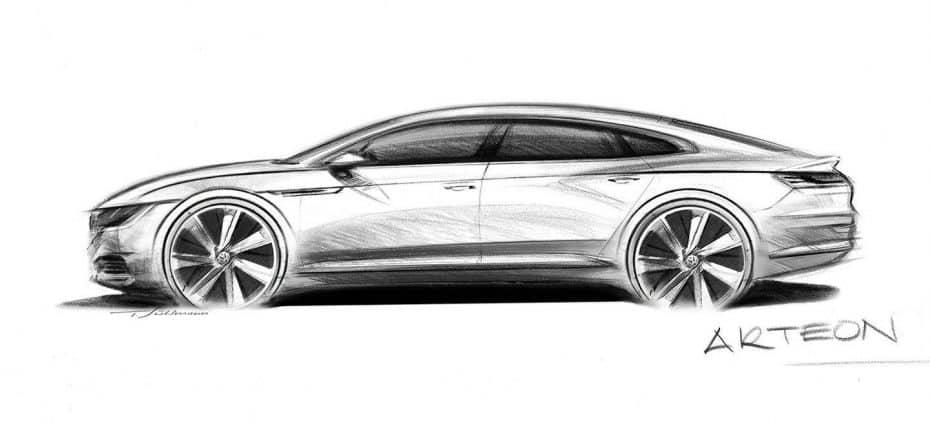 Lo veremos en Ginebra: Así es el Volkswagen Arteon, un sedán coupé que recogerá el testigo del CC