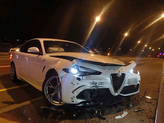 Se están entregando los primeros Alfa Giulia Quadrifoglio y este genio ya ha destrozado el suyo