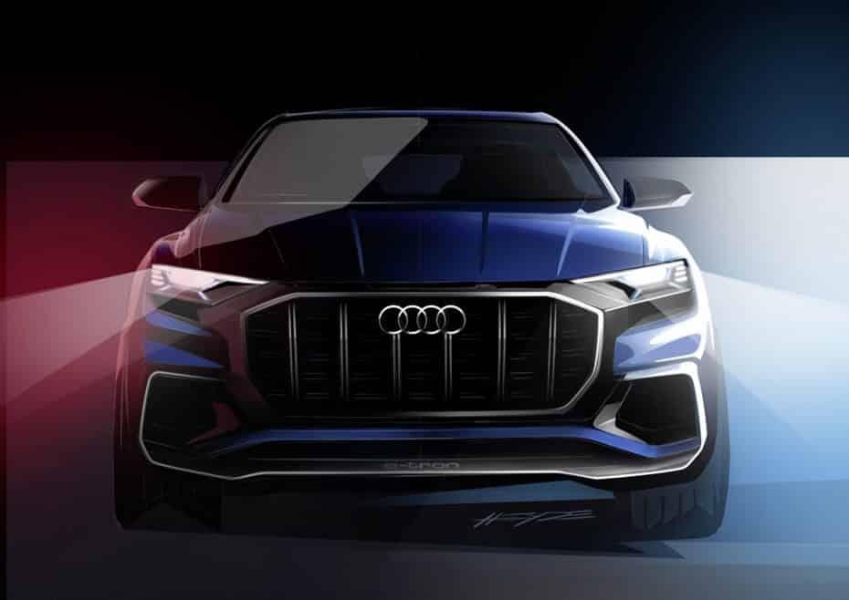 Audi se adentra en el mundo de los grandes SUV coupés: Así de imponente luce el Audi Q8 concept
