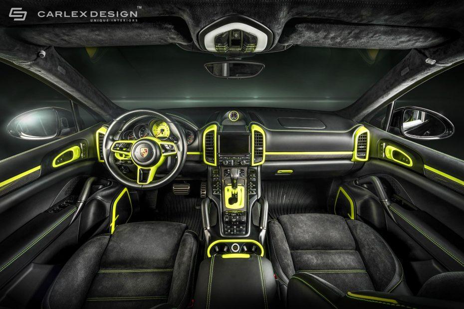¿El interior más bestia jamás creado para un Porsche Cayenne? Ojo a la obra de arte de Carlex Design…
