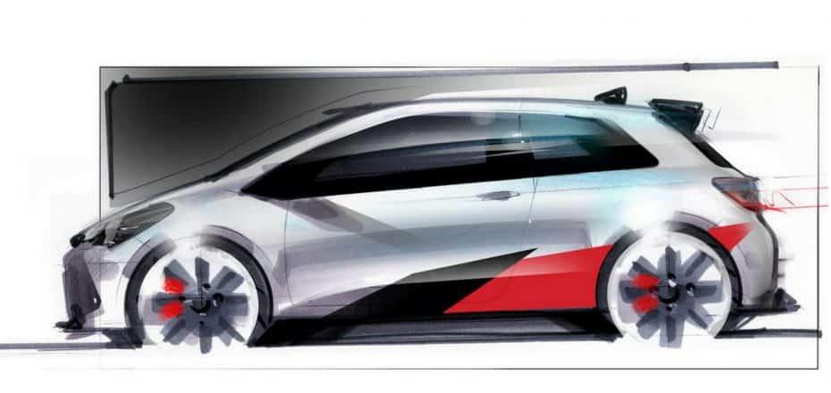 Aquí tienes el primer boceto de la versión Gazoo Racing del Yaris: Sí, lo podremos comprar…
