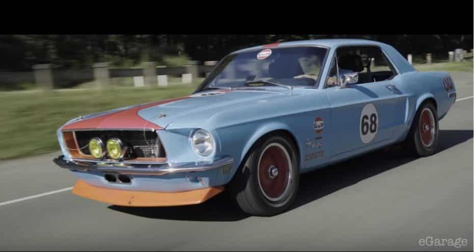 ¡Idea brillante!: Este Ford Mustang del '68 esconde en su interior el motor de un Toyota Supra