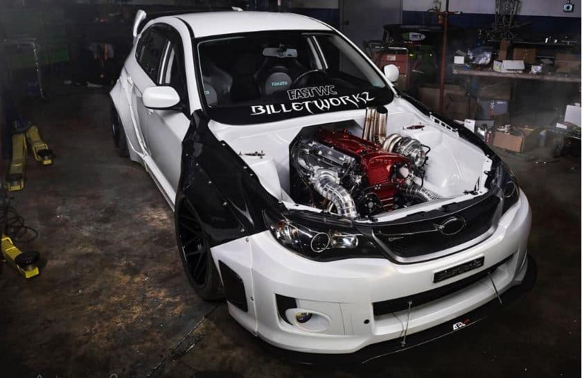 Este Subaru WRX es tan suculento como el motor del Nissan Skyline GT-R que esconde bajo el capó