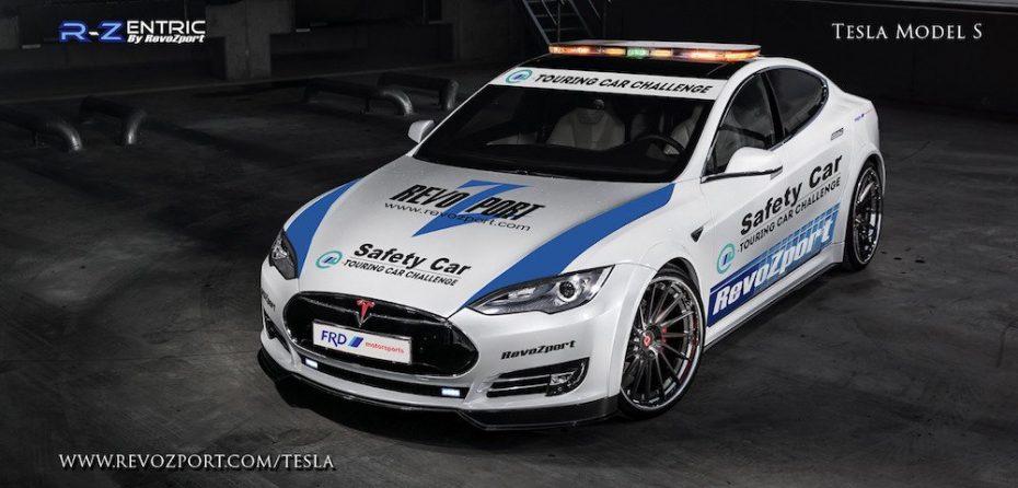 ¿El Safety Car de la Fórmula E? Nada menos que este Tesla Model S con un kit RevoZport R-Zentric