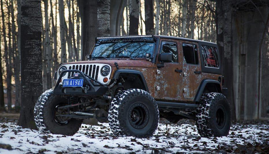 Este Jeep Wrangler Hunting Unlimited de Vilner es monstruoso, y su carrocería 'oxidada' única
