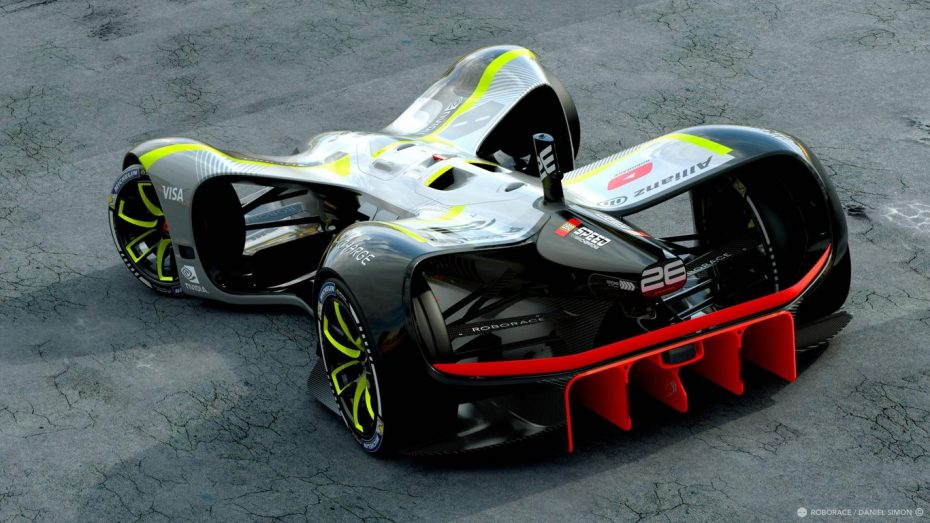 Este es el primer coche autónomo y eléctrico de la Roborace: 975 kilos de peso y un diseño increíble