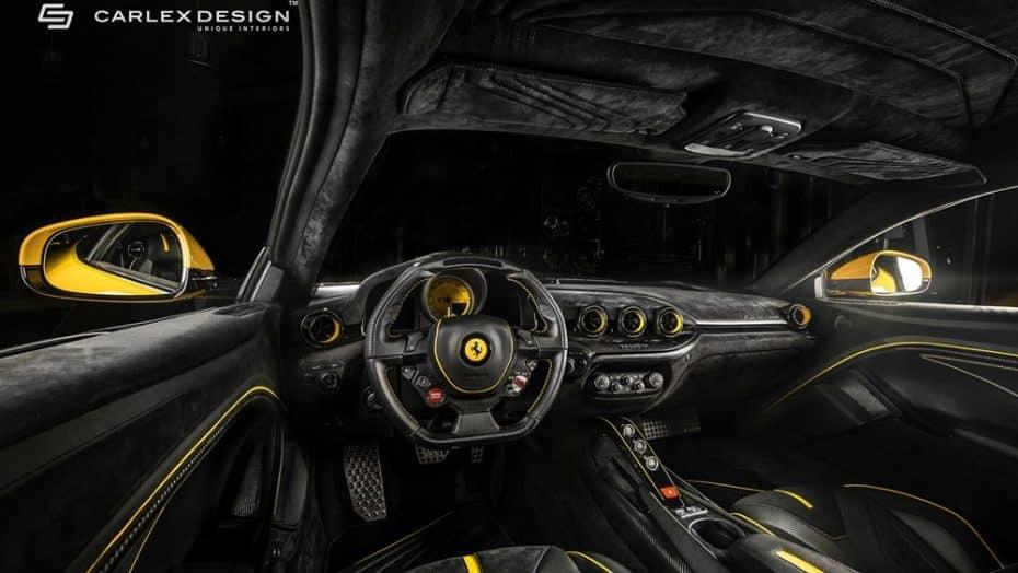 Si hay alguien que pueda darle un aspecto único al interior del Ferrari F12 tdf ese es Carlex Design