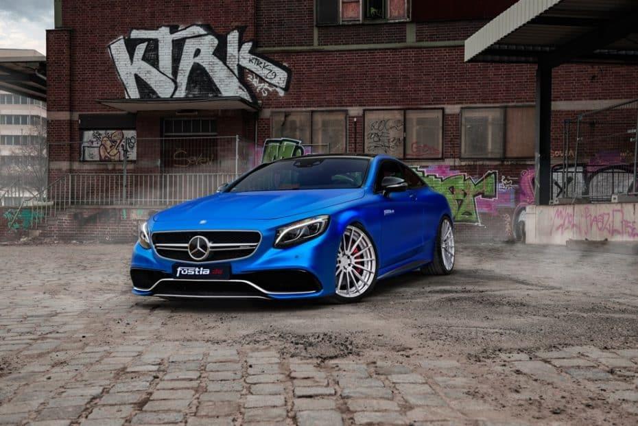 Este Mercedes-AMG S63 S Coupé huye de la discreción, pero su 'corazoncito' supera a un Aventador S
