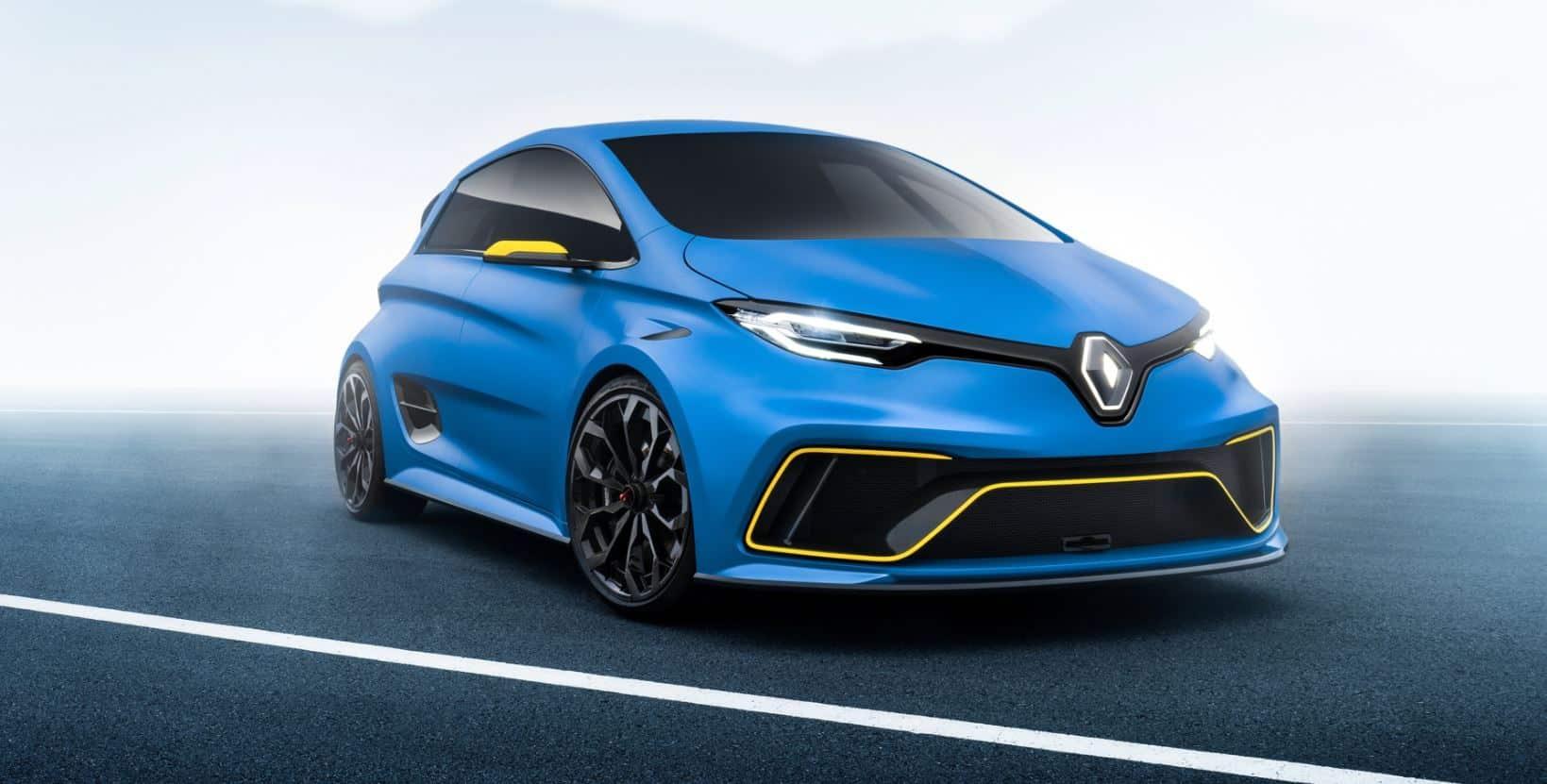 Parece un RS pero en realidad es el Renault Zoe e-Sport Concept: 100 % eléctrico y radical