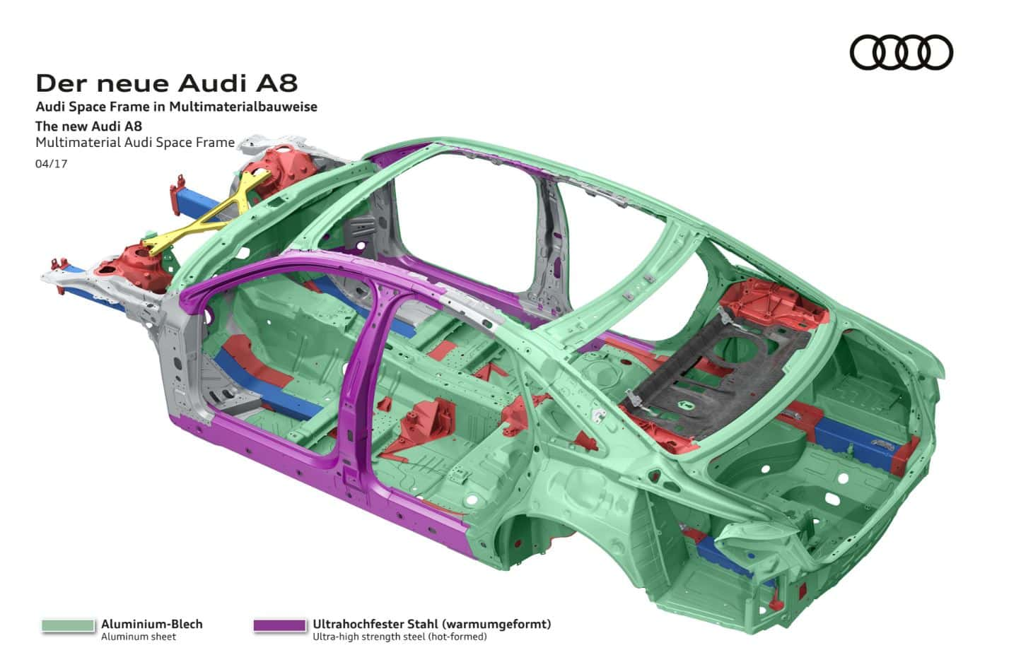 Audi A8 space frame 4