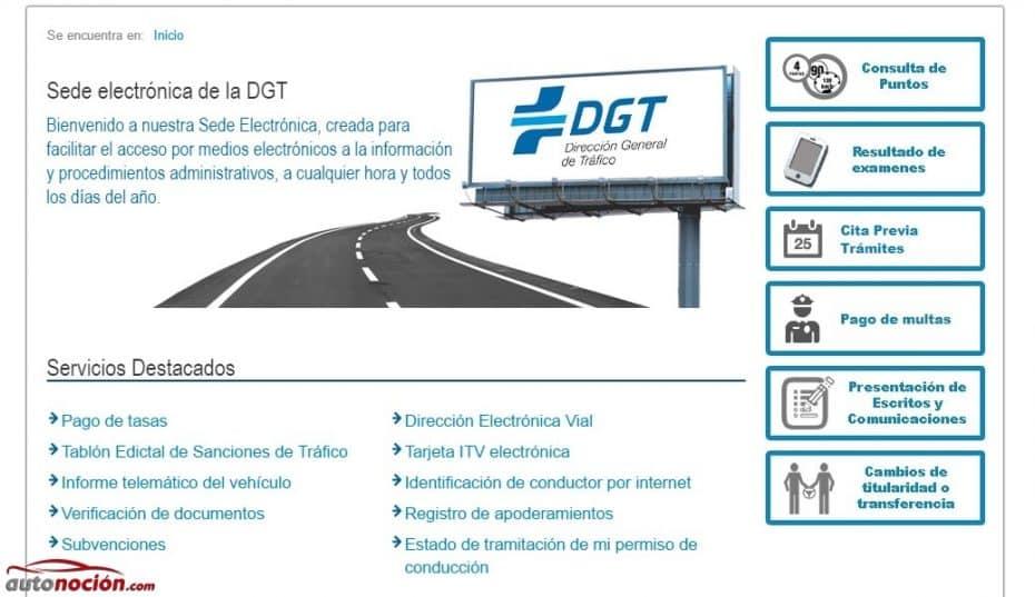 Cómo usar la Sede Electrónica de la DGT