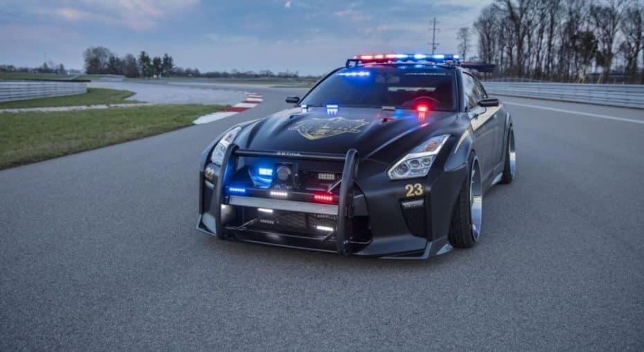 ¡Pero qué demonios!: Este Nissan GT-R es el vehículo policial definitivo