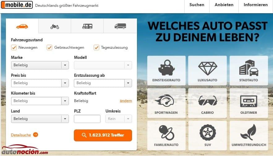 Portal de coches en Alemania