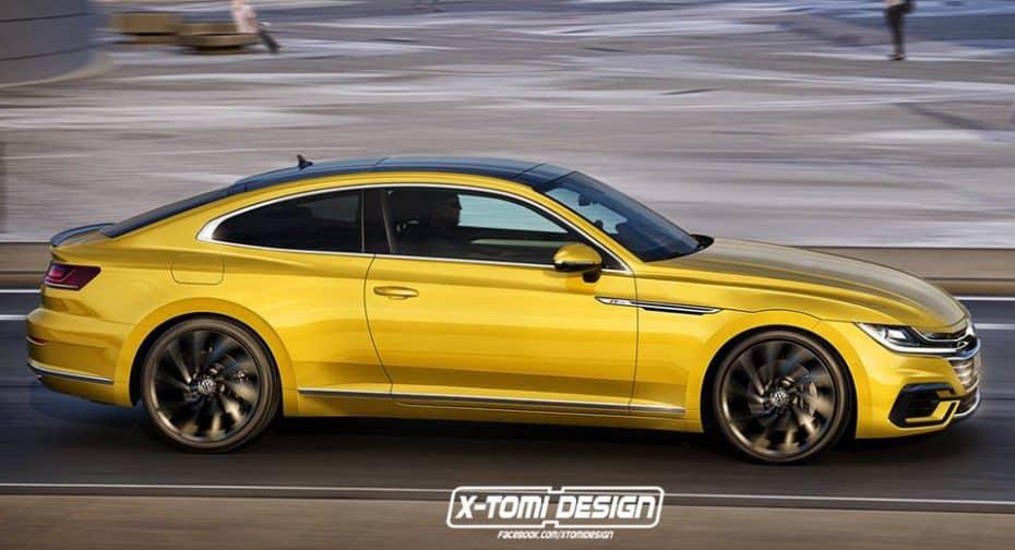 ¿Un Volkswagen Arteon Coupé? Así sería una tentadora alternativa del Audi A5