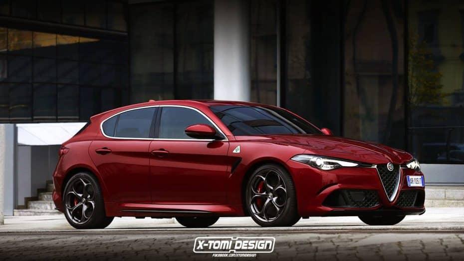 ¿Un Alfa Romeo Giulietta con toques del Stelvio y Giulia? Así sería y no pinta nada mal…