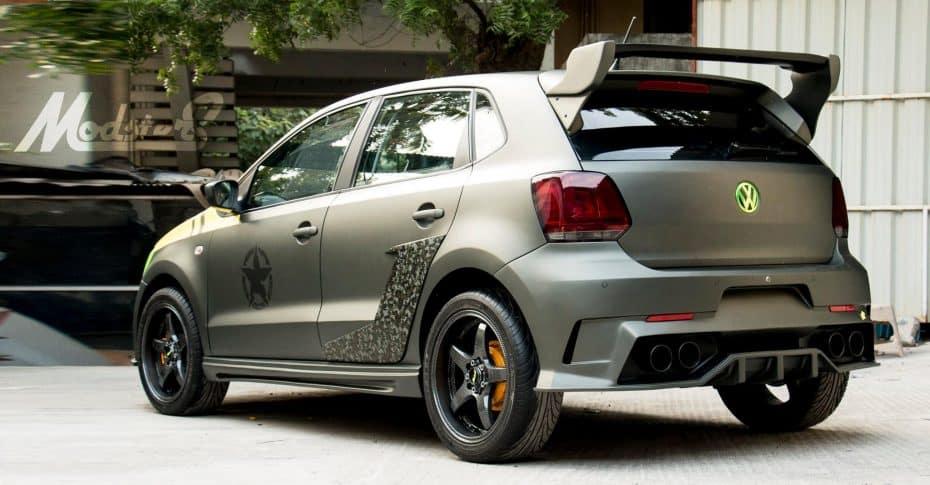 ¿Destrozo o acierto? Este Volkswagen Polo tuneado en la India da muy mala espina…