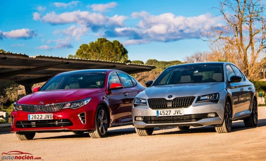 ¿Škoda Superb 1.8 TSI Sportline 180 CV o Kia Optima GT 245 CV?: Enfrentamos a las poderosas berlinas