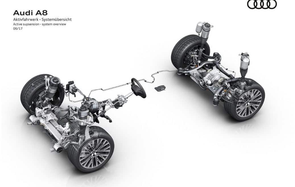 La suspensión del nuevo Audi A8 2018 promete ser una delicia e incluso protegerte en caso de accidente