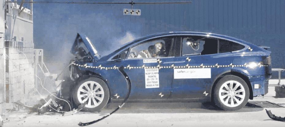 Desvelados los Crash Test del Tesla Model X ¿Es tan seguro como nos decían?