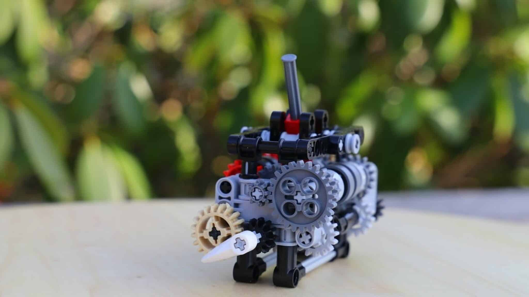 Esta caja de cambios de 6 velocidades hecha con piezas de LEGO es sencillamente espectacular ¡Y funciona!