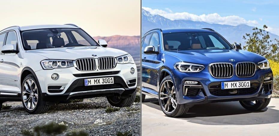 Comparación visual: Juzga tú mismo lo que ha cambiado la nueva generación del BMW X3