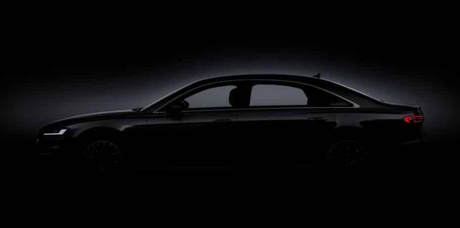 Y ahora Audi nos muestra el nuevo A8 de perfil…
