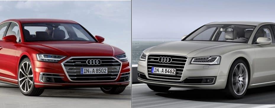 Comparación visual: Juzga tú mismo cuanto ha cambiado el nuevo Audi A8