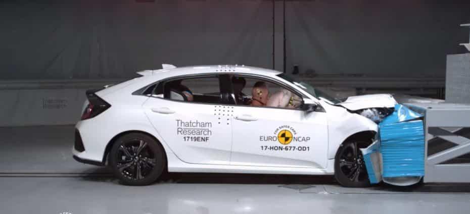 """Nueva tanda EuroNCAP: El Mustang """"sigue sin dar la talla"""" y el Civic se queda a las puertas de las 5 estrellas…"""