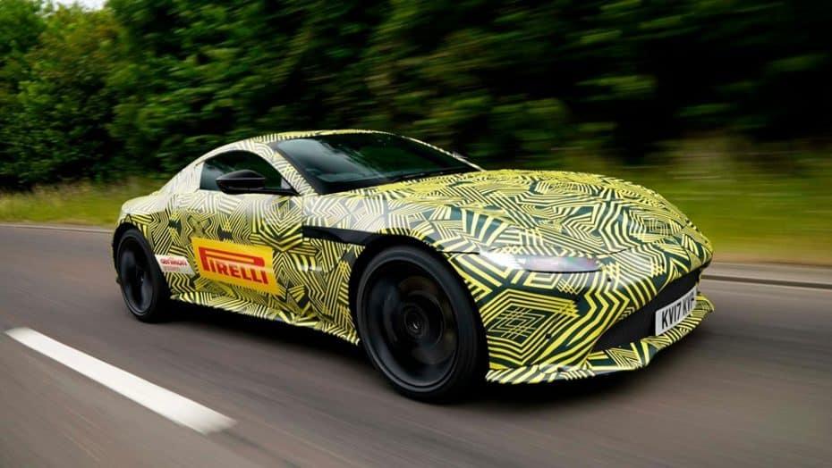 Las primeras imágenes del Aston Martin V8 Vantage 2018 apuntan a una mezcla de DB11, DB10 y Vulcan