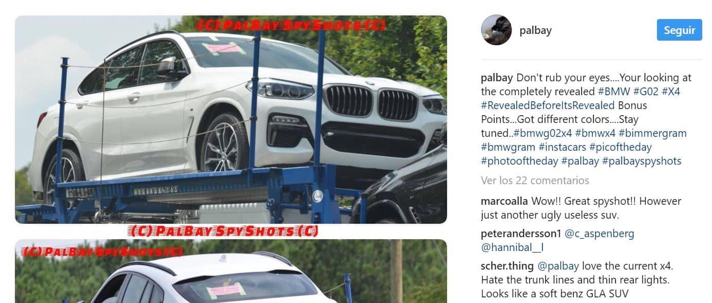 ¡Filtrado! El BMW X4 2019 se deja ver completamente al desnudo mucho antes de su debut