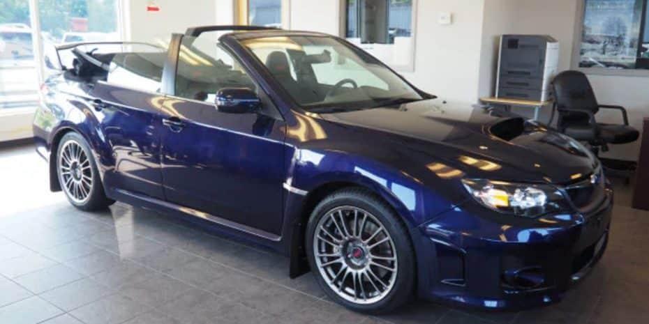 ¿Dirías que un Subaru WRX STI descapotable es el coche perfecto? ¡Este está a la venta!