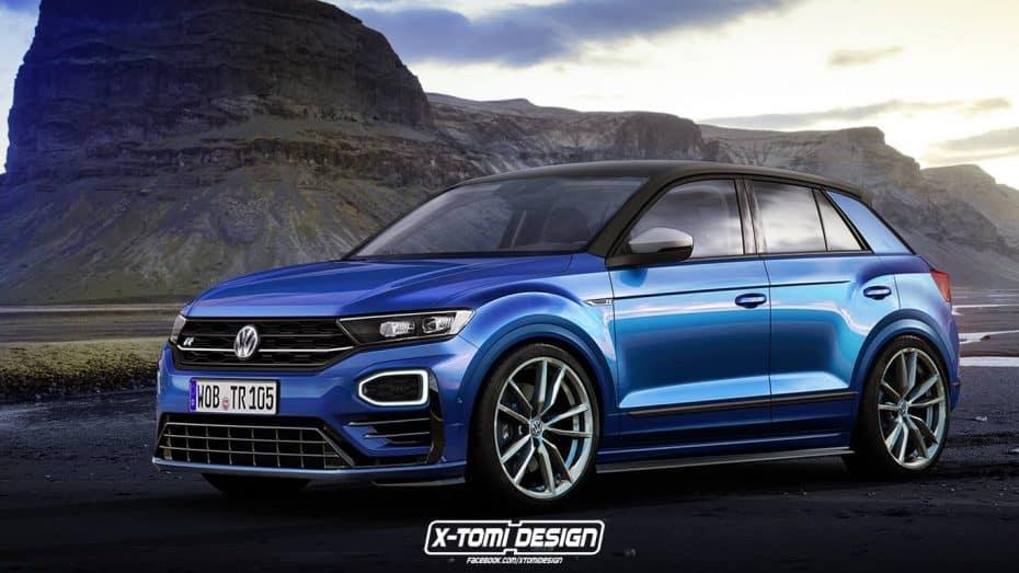 Si el render del Volkswagen T-Roc GTI no te convenció, ¿qué tal este T-Roc R?