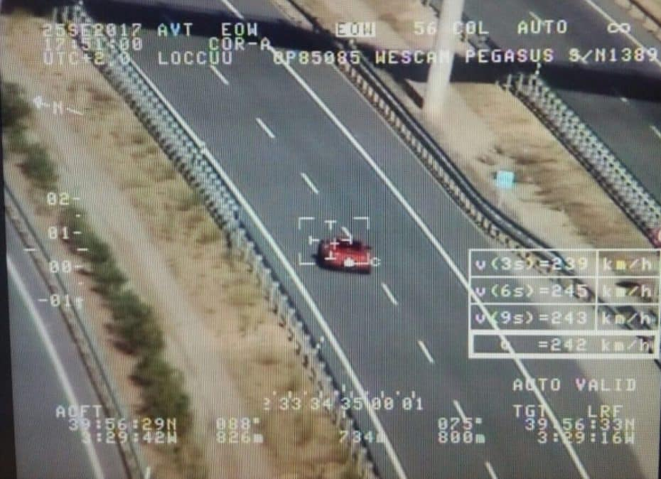 ¡Cazado a 245 km/h! Pegasus detuvo a este conductor mientras conducía un Porsche 911 GT3